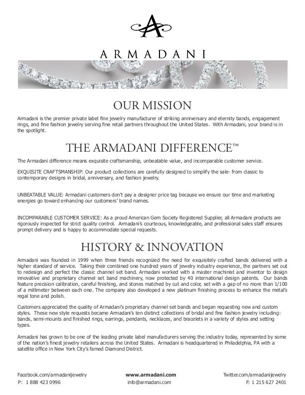 BRANDING: Press Kit for Jewelry Manufacturer, CLIENT - Armadani by