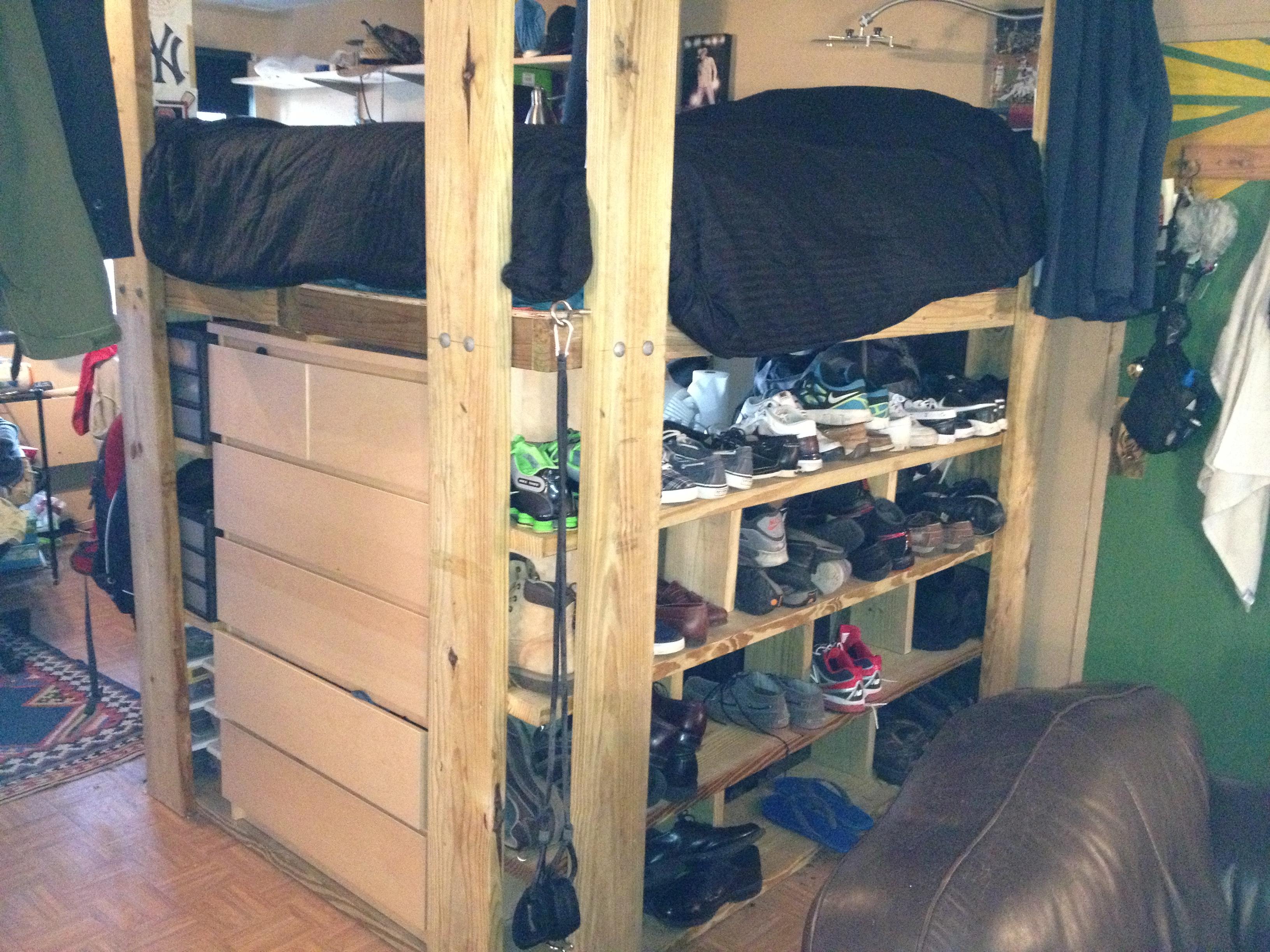 Top Bunk Beds With Dresser Built In Arpandeb Embrace Loft Bed