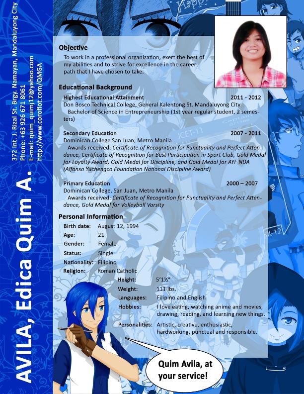 My Resume by Edica Quim Avila at Coroflot.com
