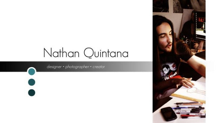Sample Portfolio PDF by Nathan Quintana at Coroflot com