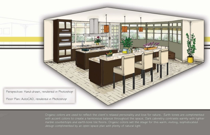 Color Rendering Residential Kitchen By Delilah Collins At Coroflot Com