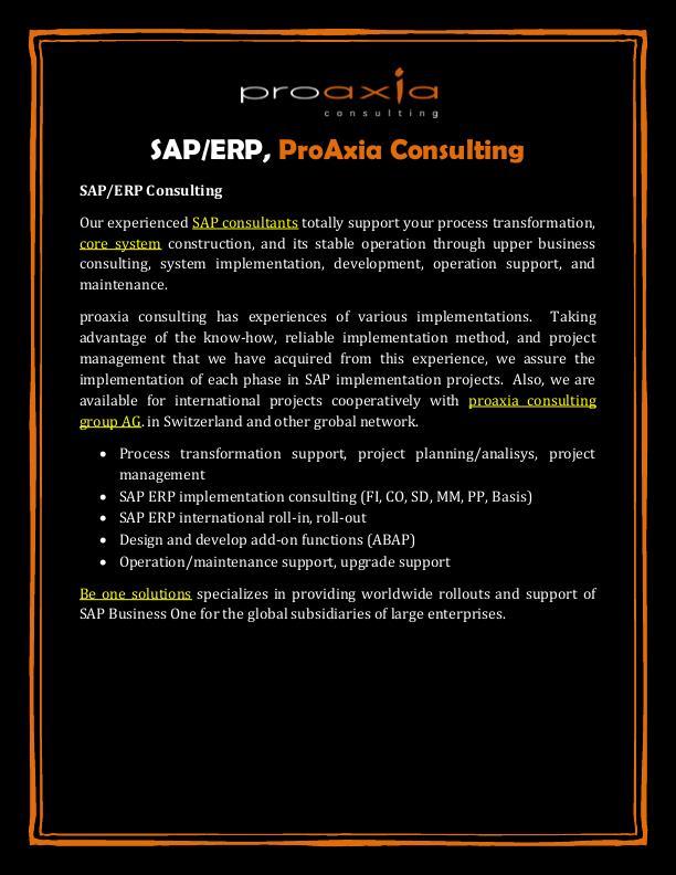 SAP/ERP, ProAxia Consulting by Yoshiko Miura at Coroflot com