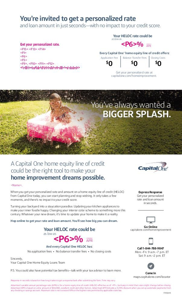 capital one home loans reimagine home improvement direct mail by