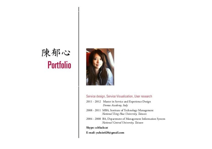 Service Design] Industry-academic projects by YU HSIN CHEN