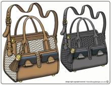 Handbag Purse Design Illustration Sketch Drawing Cad Computer Rendered