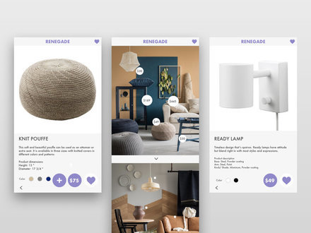 online shop ui by cory lambert at. Black Bedroom Furniture Sets. Home Design Ideas